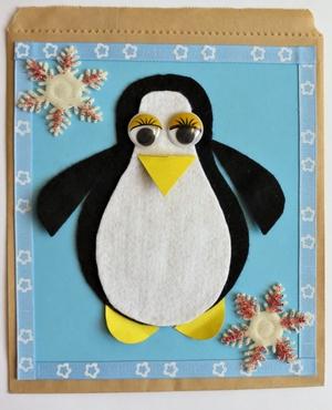 Perky Penguin Gift Bag