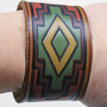 Southwestern Leather Belt Cuff