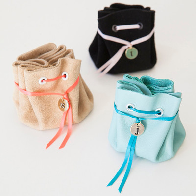No-Sew Leather Jewelry Pouch
