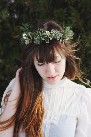 Evergreen Winter Crown