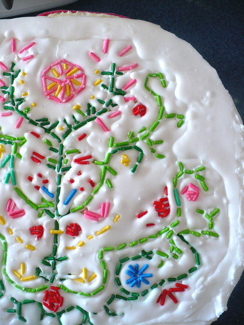 DIY Cake Embroidery Decoration