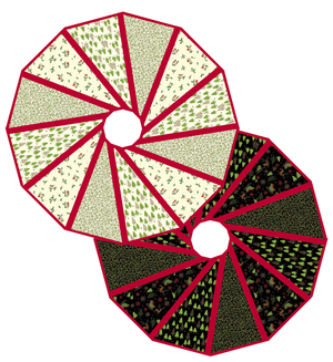 QuiltWoman.com Modern Two-Sided Tree Skirt & Pattern