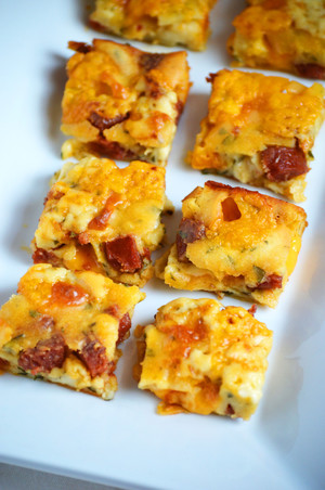 Cheesy Pepperoni Squares