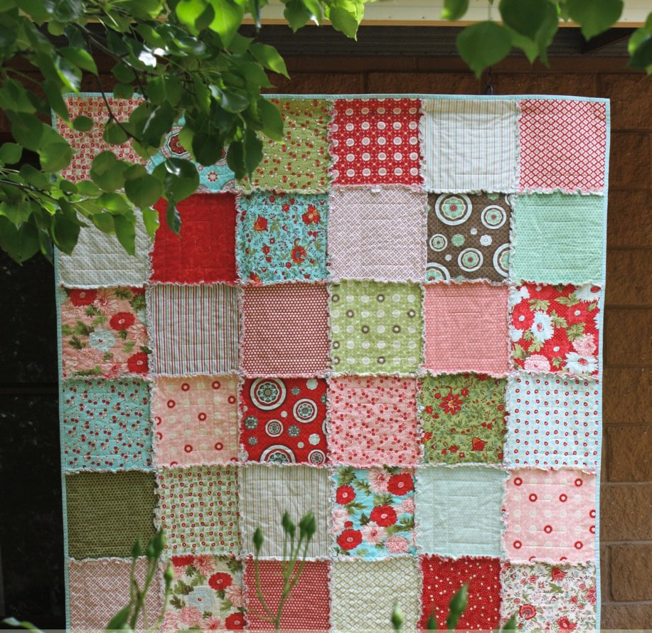 Quick and cuddly rag quilt for How to make a quilt template