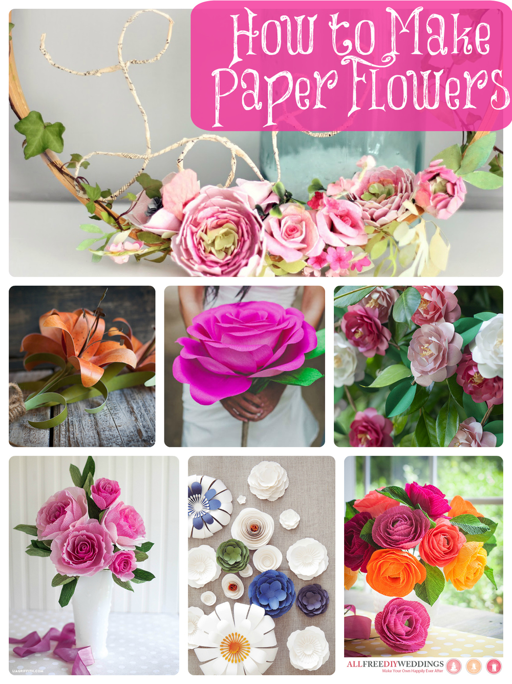 How to make paper flowers 40 diy wedding ideas for Decorative flowers for crafts