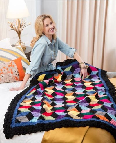 Contemporary Stash-busting Blocks Throw