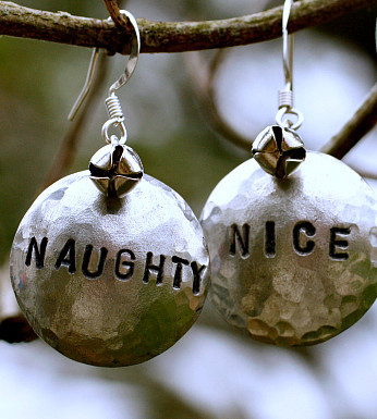 Naughty or Nice Earrings