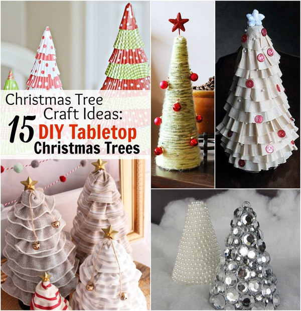 Superb Christmas Diy Craft Ideas Part - 6: Christmas Tree Craft Ideas: 15 DIY Tabletop Christmas Trees