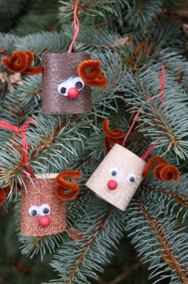 Toilet Paper Roll Reindeer Ornaments