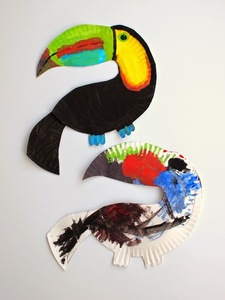Sun and rainbow paper plate craft for Paper plate crafts for adults