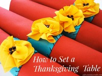 How to Set a Thanksgiving Table