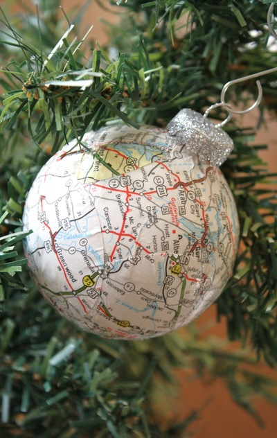 Mapped Out Ornament