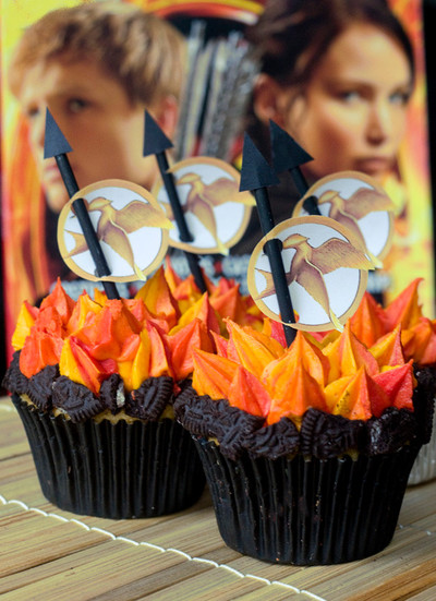 Hunger Games Girl on Fire Cupcakes