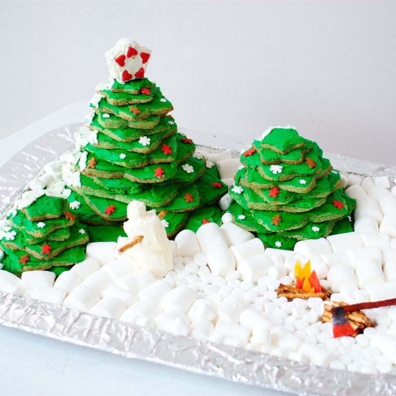 Edible Christmas Cookie Forest Craft