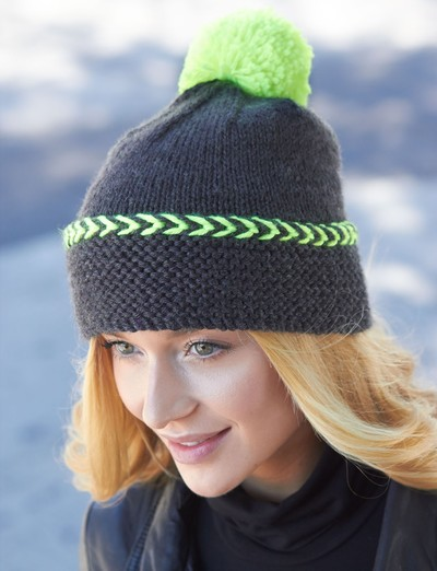Easy Knitting Pattern For A Hat : 66 Knit Hat Patterns for Winter AllFreeKnitting.com