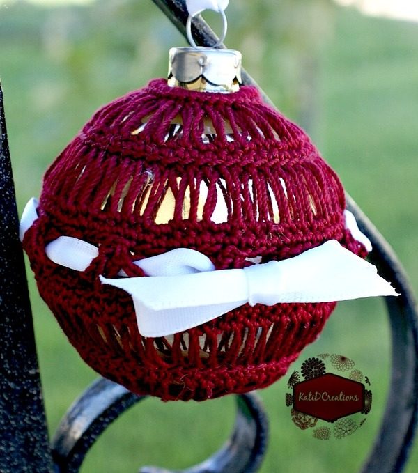 Broomstick Lace Crochet Ornament