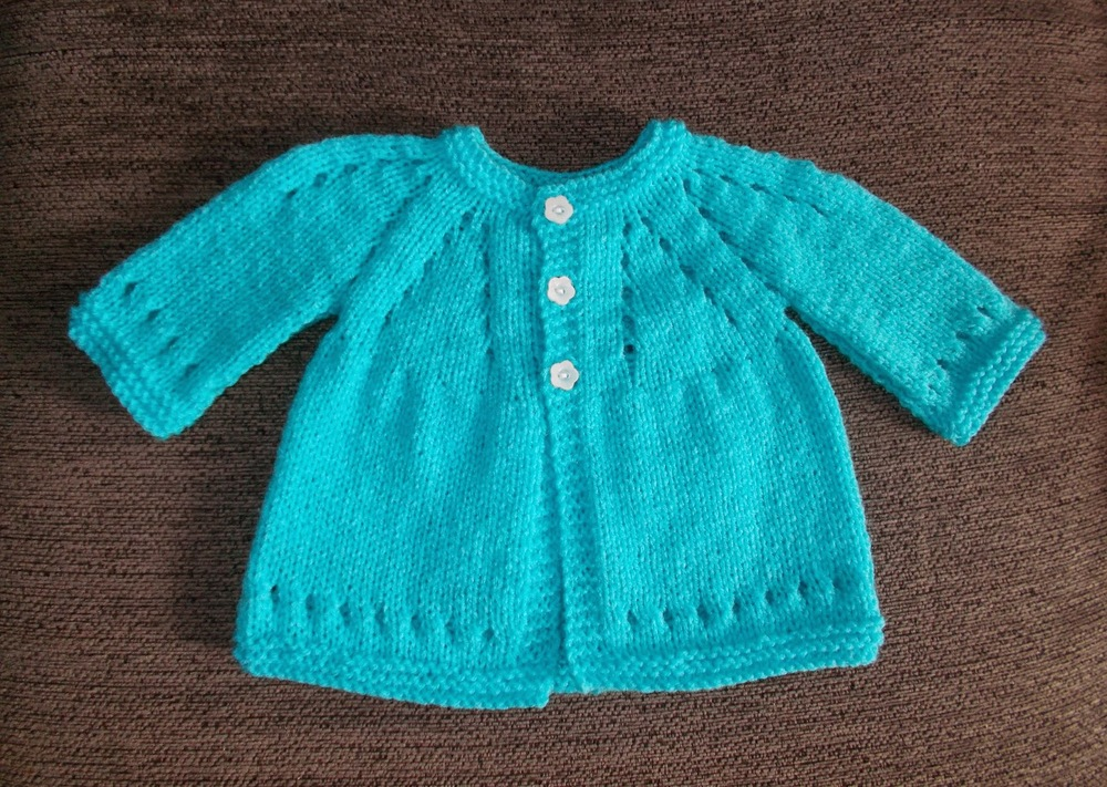 Sophisticated Baby Cardigan | AllFreeKnitting.com