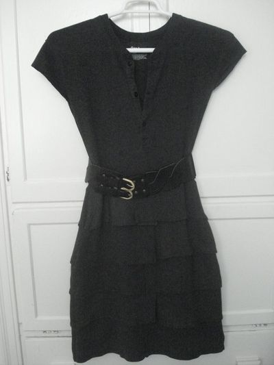 Upcyled Thermal Shirt Dress