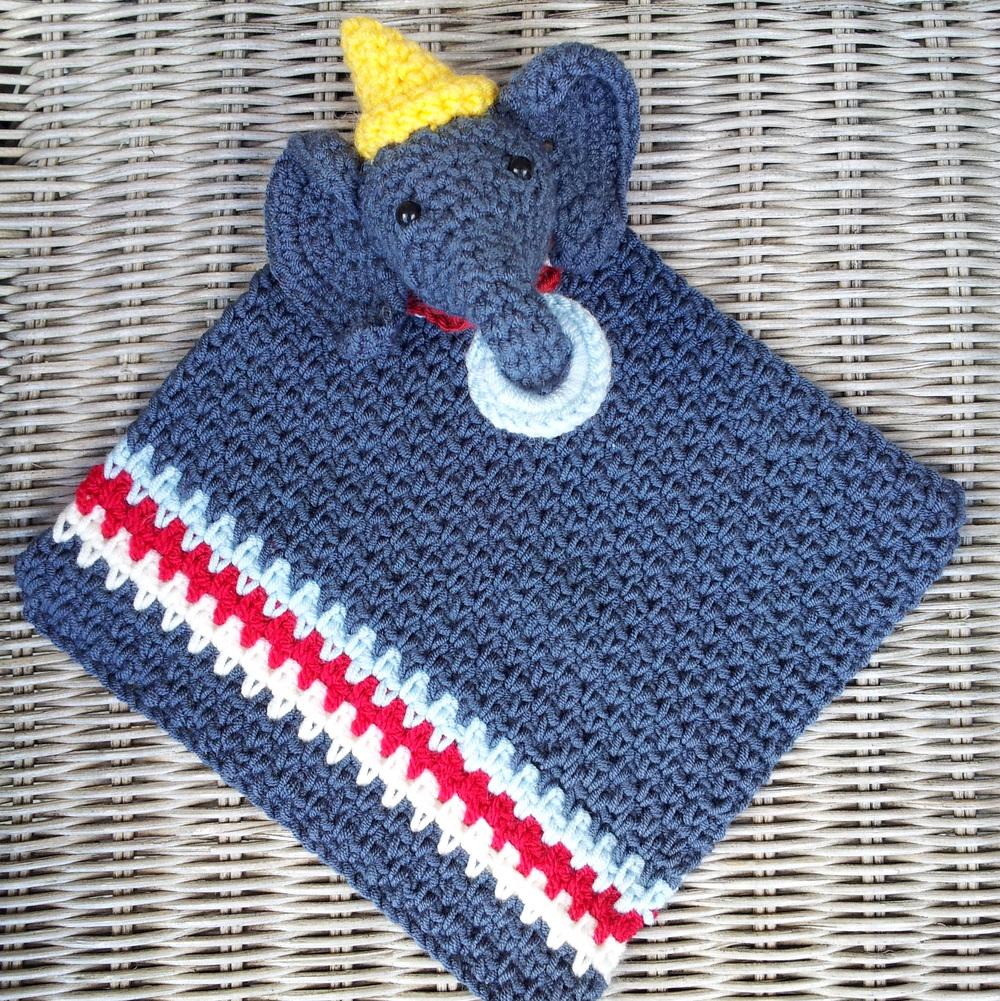 Circus Elephant Crochet Lovey
