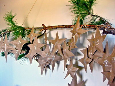 Rustic Stars Advent Calendar