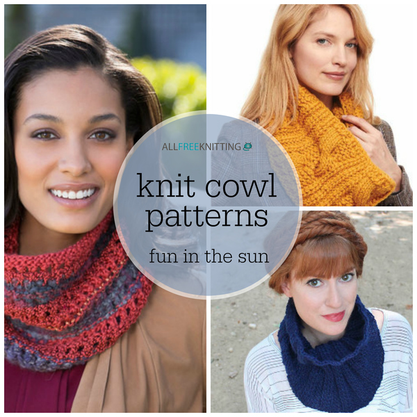 20 Knit Cowl Patterns Fun In The Sun Allfreeknitting