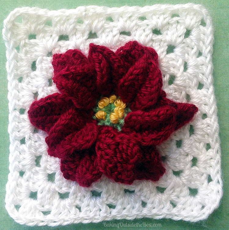 Magic Poinsettia Granny Square Pattern ...