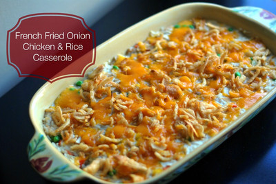 French-Fried Onion Chicken and Rice Casserole