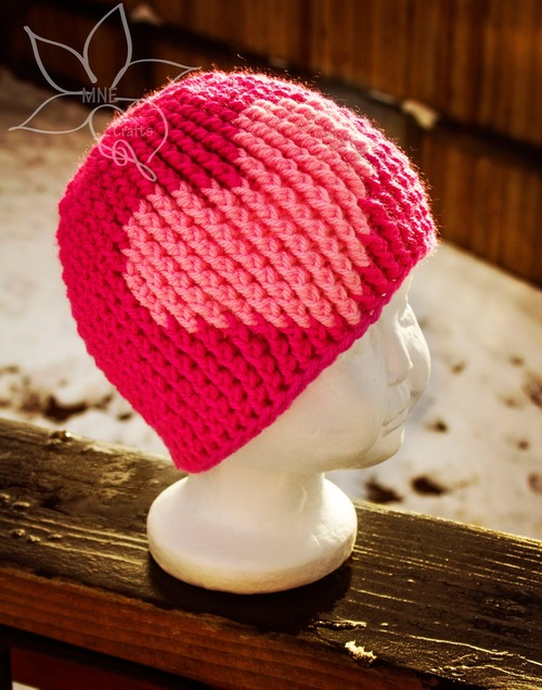 This sweet Bubblegum Heart Beanie is the perfect children s project to work  up in a hurry. Learn how to crochet a beanie ... c8a7e5ba3a4