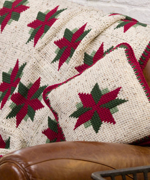 Christmas Star Throw and Pillow