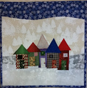 Christmas Row Houses Pattern