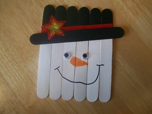 Popsicle Stick Frosty