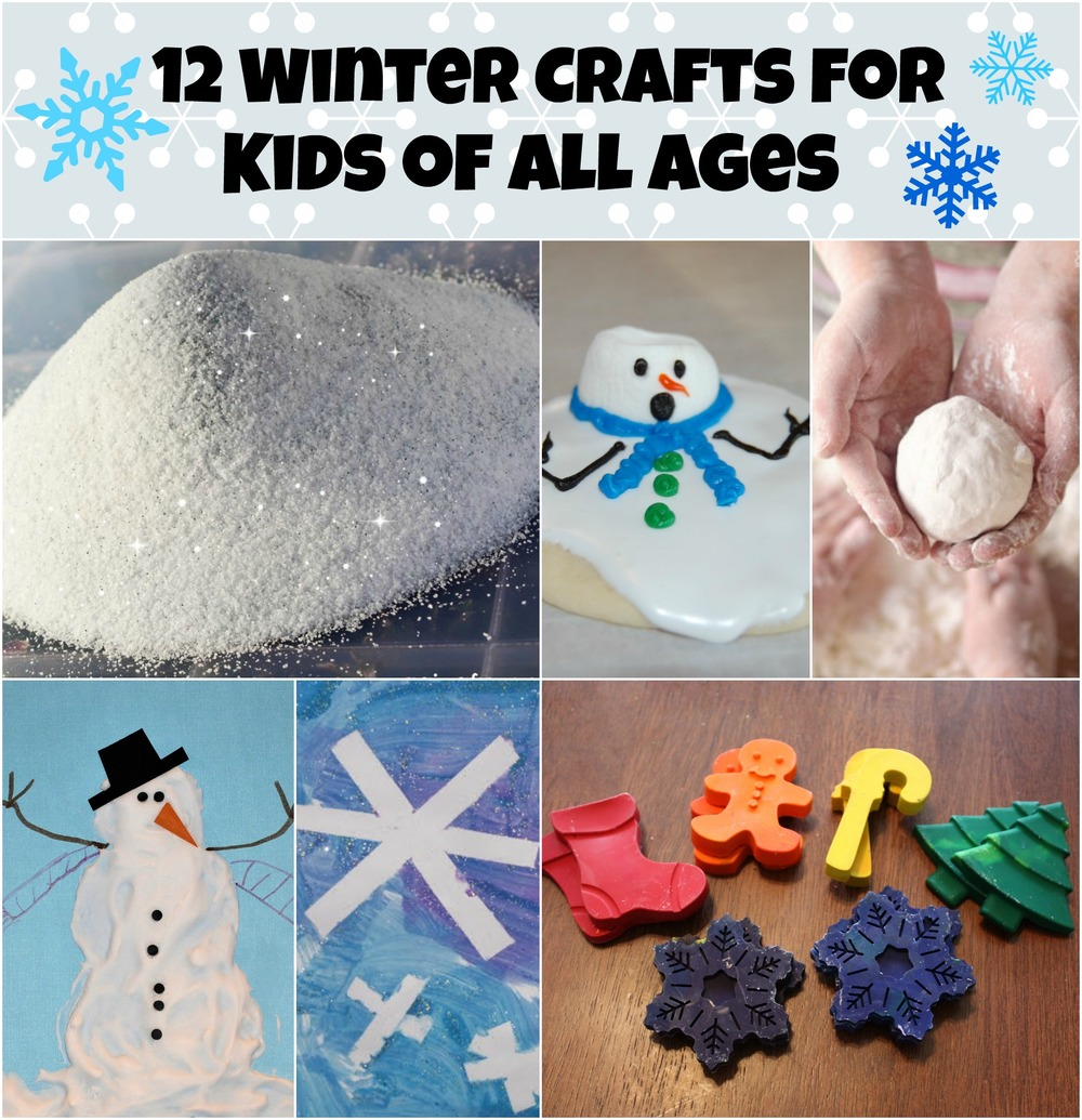12 winter crafts for kids of all ages for How to make winter crafts