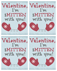 Smitten with You Free Printable Valentines