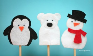 Snowy Friends Finger Puppets