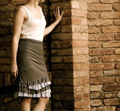 Anthropologie Ruffled Skirt Tutorial