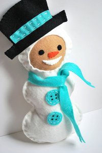 Adorable Hand-Stitched Snow Buddy