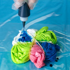 reverse spider tie dye instructions