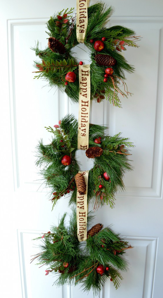 Hanging Wreath Trio Allfreeholidaycrafts Com