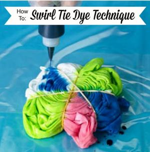 7c6b2b33 Creating a twisting spiral of bright colors with tie-dye is easier than you  might think! Follow this photo tutorial for how to swirl tie dye from I  Love to ...
