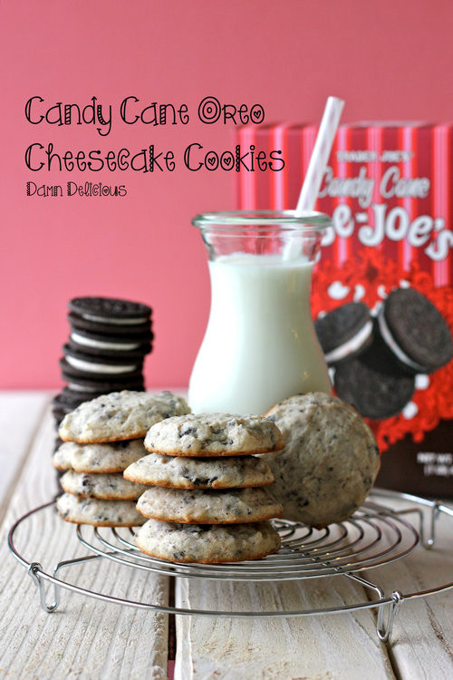 Candy Cane Oreo Cheesecake Cookies