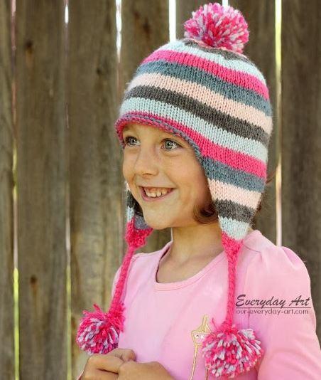 Loom Knit Baby Hat With Ear Flaps : Veronica ear flap hat allfreeknitting
