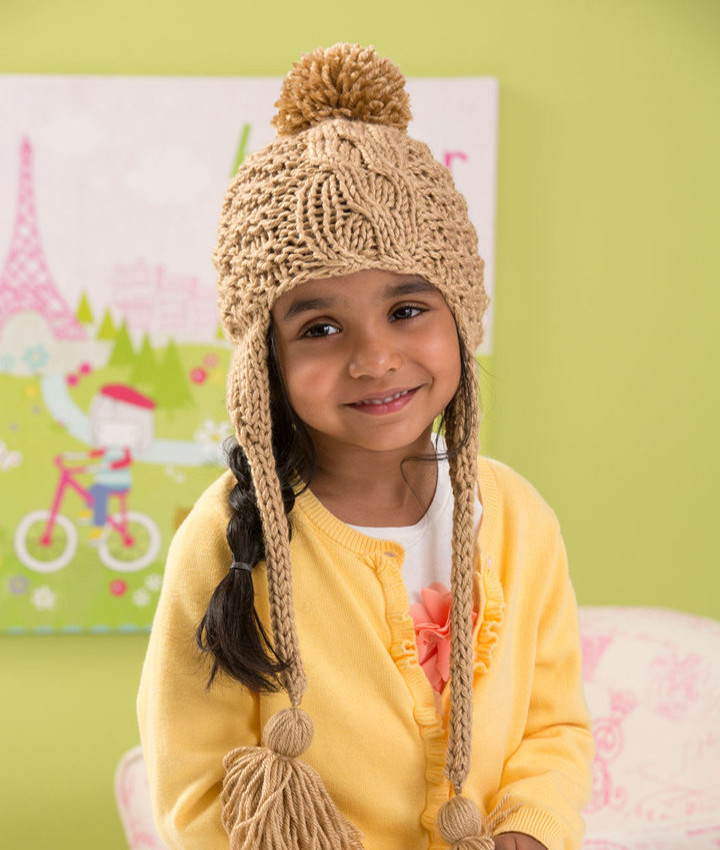 Cabled Toddler Hat Knitting Pattern AllFreeKnitting.com