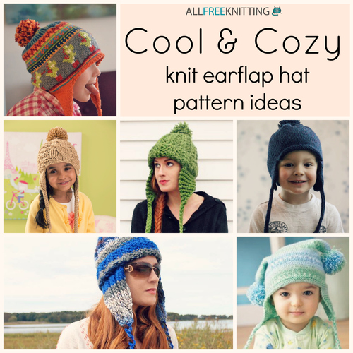 Cool & Cozy: 24 Knit Earflap Hat Pattern Ideas | AllFreeKnitting.com