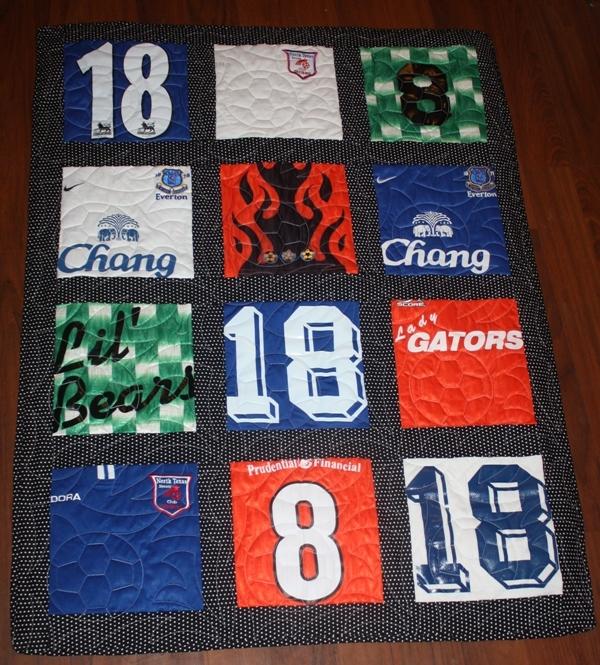 Soccer T Shirt Quilt Favequilts Com