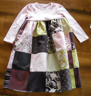 Charming Patchwork Baby Dress