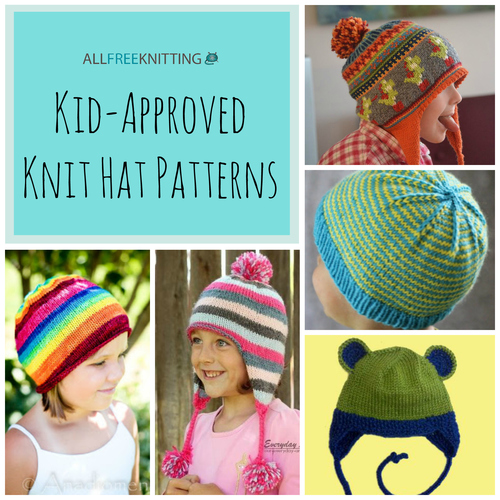 Knitting Pattern For Childrens Hats : 26 Kid-Approved Knit Hat Patterns AllFreeKnitting.com
