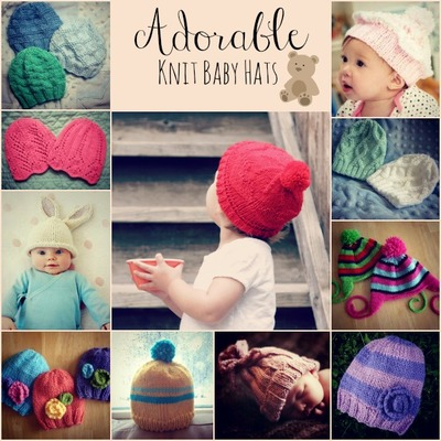 Adorable Knit Baby Hats