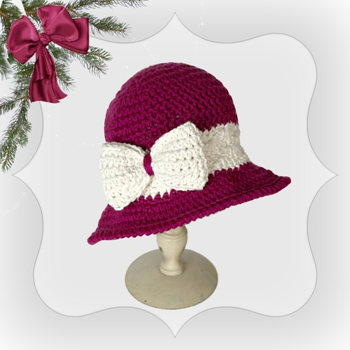 Elegant Holiday Joy Hat