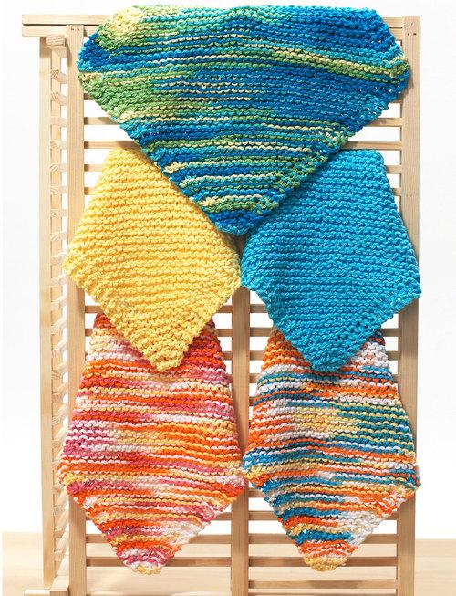 Knitting Pattern Central Dishcloths : Easy Dishcloth Knitting Pattern FaveCrafts.com