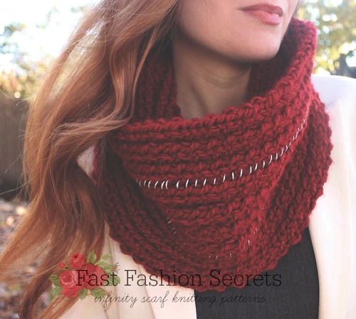 Fast Fashion Secrets: 17 Infinity Scarf Knitting Patterns